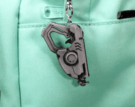 Overwatch Tracer Gun Aluminum Overwatch Keychain/Necklace for Overwatch Gift - LootCaveCo