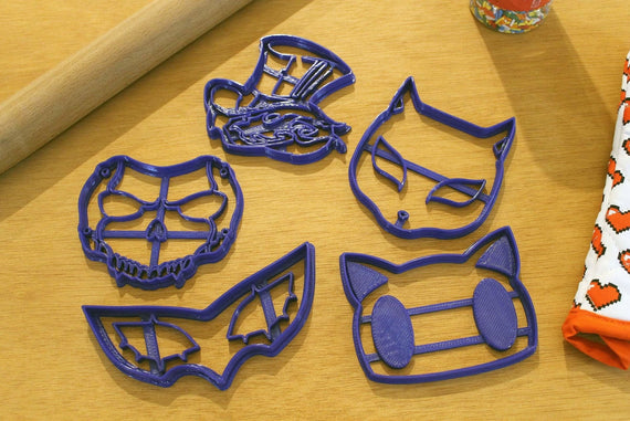 Persona 5 Joker Mask Cookie Cutters - Phantom Thieves Masks - Ryuji, Anne, Protag, Morgana - LootCaveCo