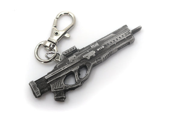 Splitgate Assualt Rifle Keychain - Split Gate Arena Warfare Portal Video Game Keychain - LootCaveCo