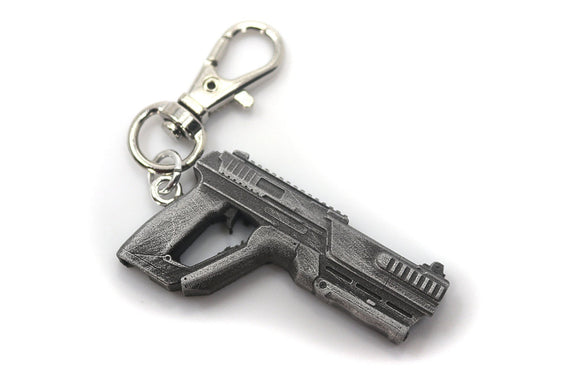 Splitgate Pistol Keychain - Split Gate Arena Warfare Portal Video Game Keychain - LootCaveCo