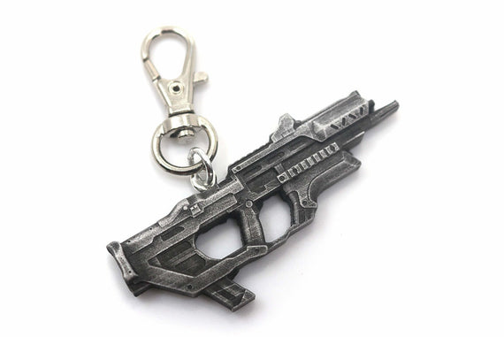 Splitgate SMG Keychain - Split Gate Arena Warfare Portal Video Game Keychain - LootCaveCo