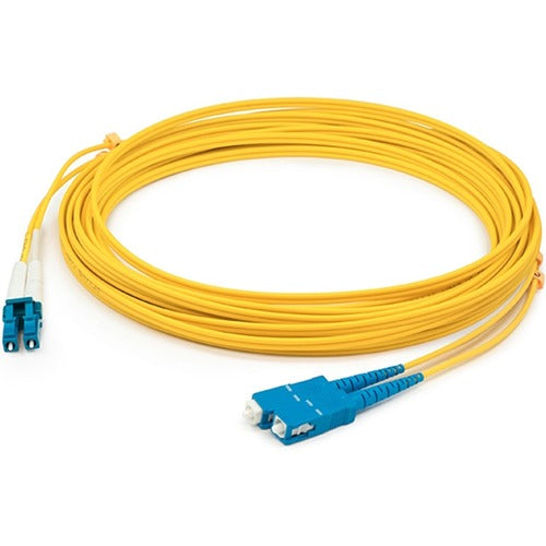 AddOn 15m SMF 9/125 Duplex (APC-SC/LC) ASC/LC OS1 Yellow OFNR Patch Cable ADD-ASC-LC-1-5M9SMF