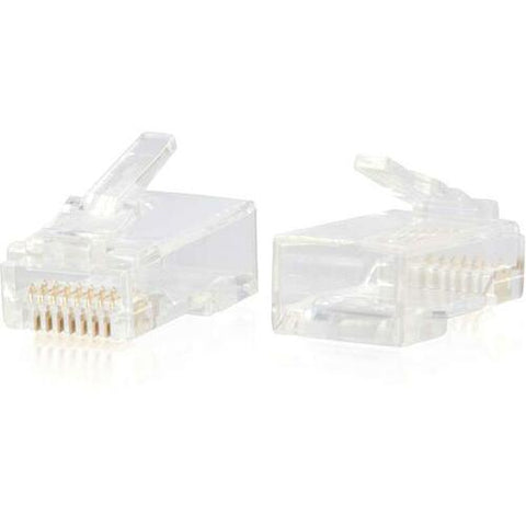C2G RJ45 Cat6 Modular Plug for Round Solid/Stranded Cable - 50pk 00889