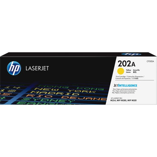 HP 202A (CF502A) Yellow Original LaserJet Toner Cartridge CF502A