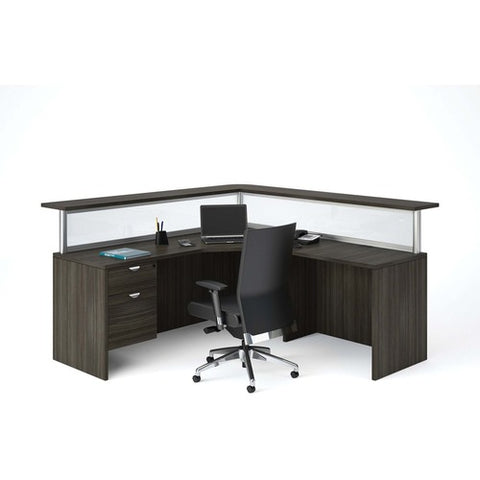 Heartwood Innovations Grey Dusk Laminate Desking INV2436023
