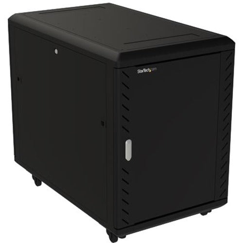 StarTech.com 15U Server Rack Cabinet - Includes Casters and Leveling feet - 32 in. Deep RK1536BKF