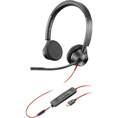 Plantronics Blackwire 3300 Series Corded UC Headset 214017-01