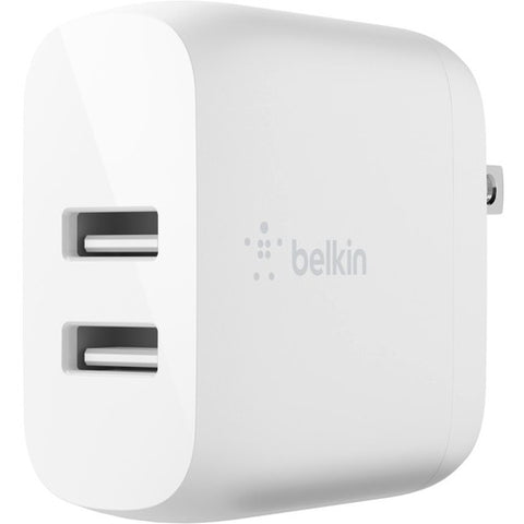 Belkin BOOST↑CHARGE Dual USB-A Wall Charger 24W WCB002dqWH