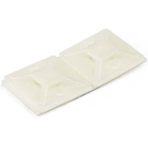 StarTech.com 100 Pack Cable Tie Mounts with Adhesive Tape for 0.18 in. (4.6 mm) Wide Ties CBMCTM2
