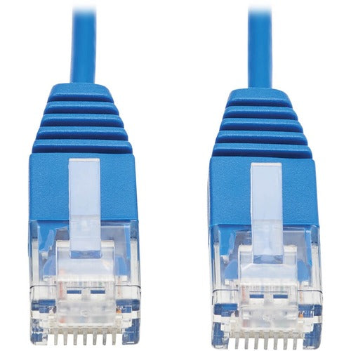 Tripp Lite Cat6a 10G Certified Molded Ultra-Slim UTP Ethernet Cable (RJ45 M/M), Blue, 3 ft. N261-UR03-BL