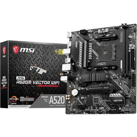 MSI MAG A520M VECTOR WIFI Desktop Motherboard A520VECTWIFI