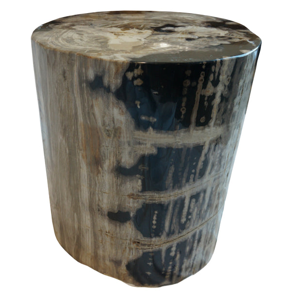 Polished Round Petrified Wood Stool. $3,900.00. Polished Round Petrified Wood  Stool Side Table