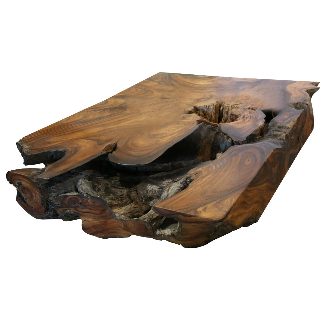 Merveilleux Underwater Acacia Wood Coffee Table