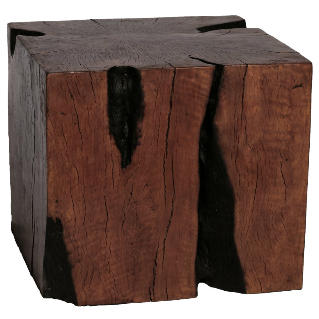 Lyche Wood Stool Set of 3 Square