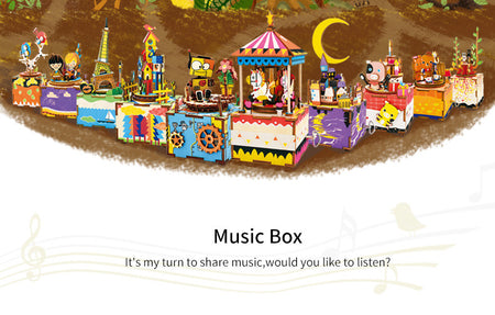 Go Ahead For Your Dream - music box - DIY 3D Wooden Music Box