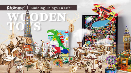 Step into A WHOLE NEW WORLD OF 3D wooden PUZZLES WITH ROBOTIME!