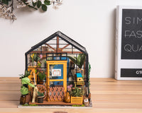 30 hours, Robotime DIY cottage Kit-Cathy's flower house finally built—Unboxing