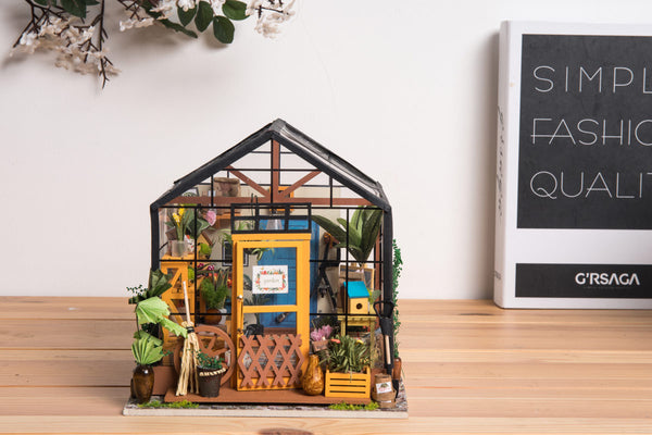After 30 Hours, Robotime DIY Cottage Kit Cathy's Flower House Built—Unboxing