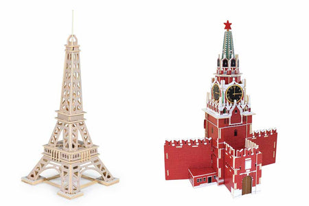 To Build Your Own Great Architectures with Robotime's 3D Wooden Puzzle