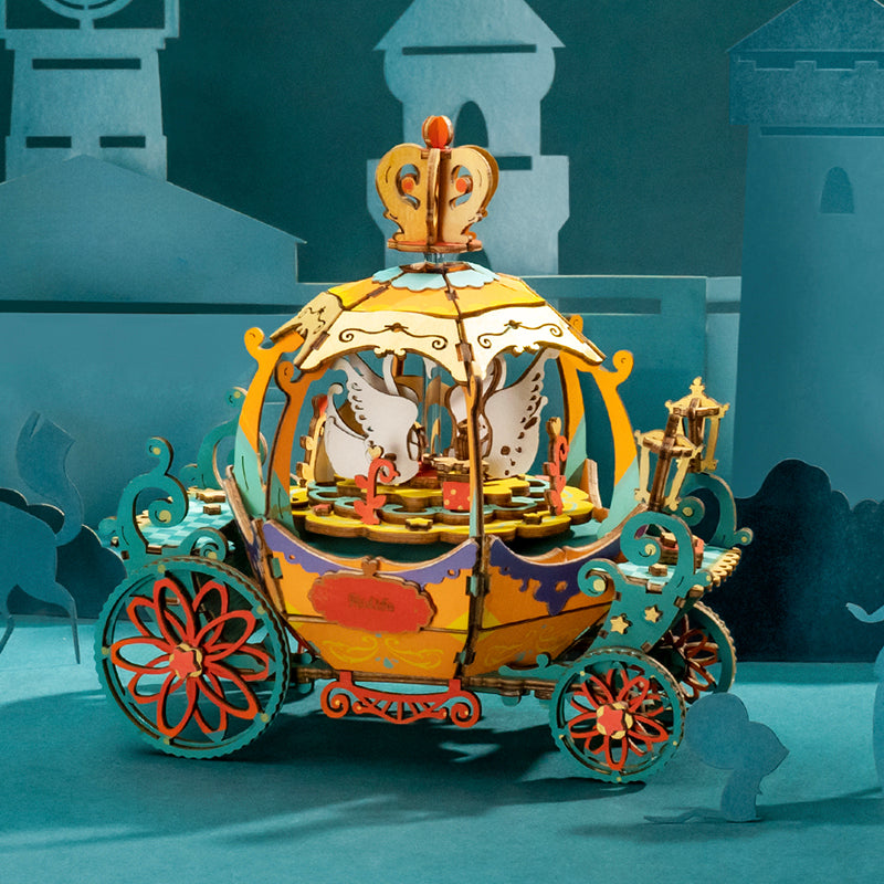 Pumpkin Carriage DIY 3D Music Box