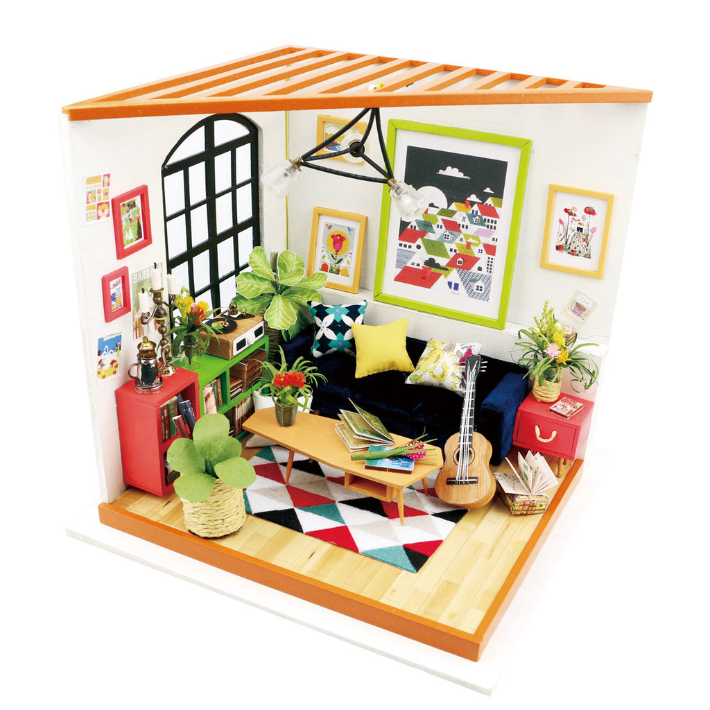 Robotime Diy Miniature Dollhouse Kit Dg106 Locus S Sitting Room With
