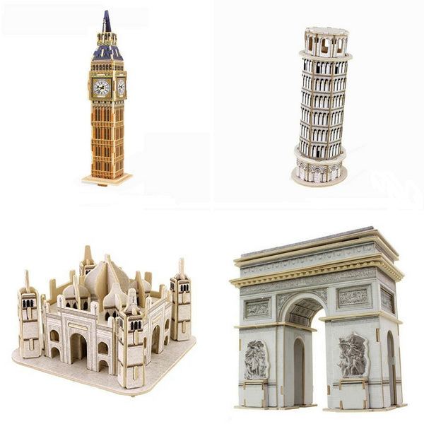 3D wooden puzzle-Mini Great Architecture
