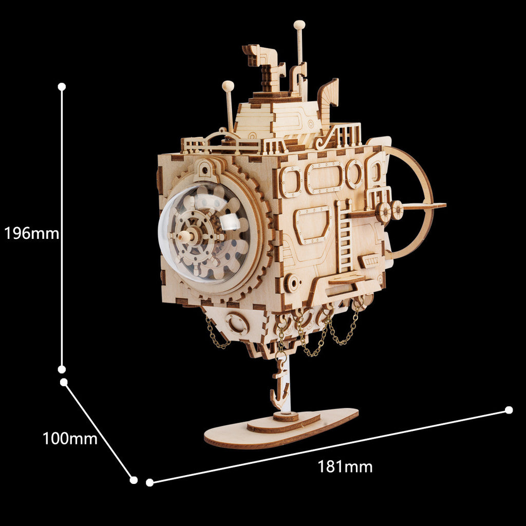 Steam Punk Music Box- AM680-Submarine