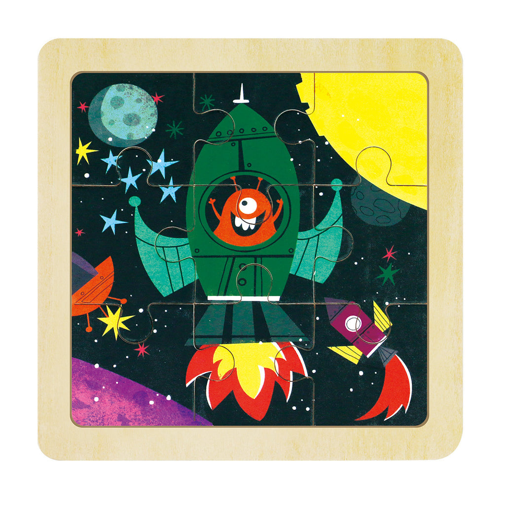 jigsaw puzzle-rocket outer space