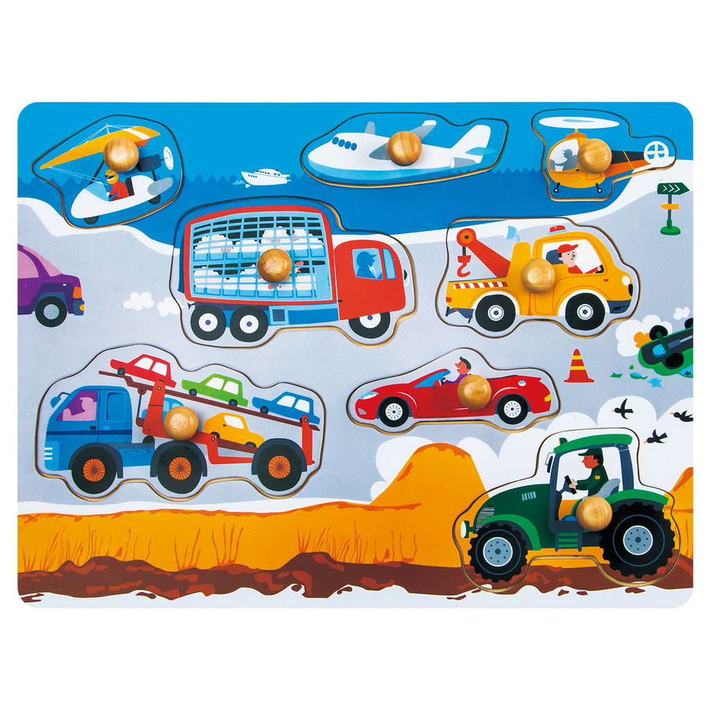 jigsaw puzzle-busy transportation
