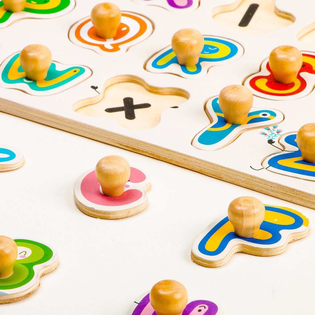 English 26 Letter Game Peg Puzzle - HP003