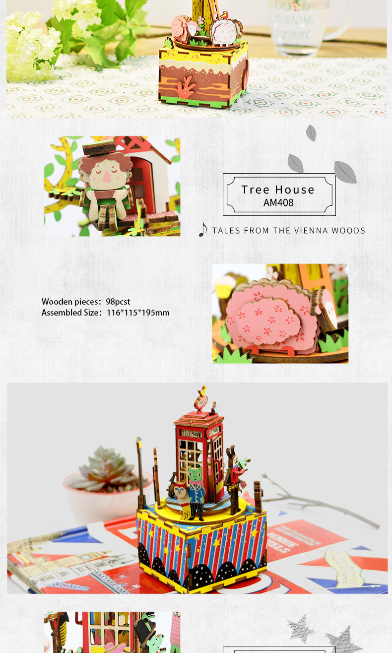 - Robotime - DIY Models, DIY Miniature Houses, 3d Wooden Puzzle