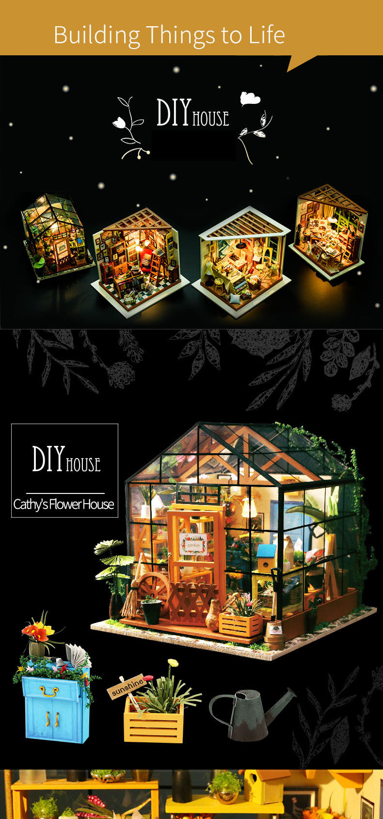 Cathy's Flower Robotime DG104 DIY House Kit