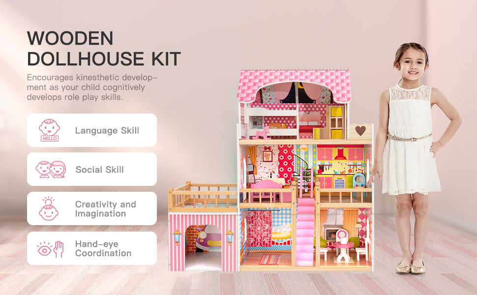 robotime dollhouse with swimming pool