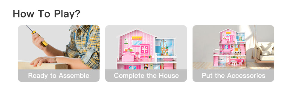 robotime dollhouse pretend playset