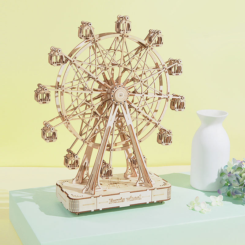 Robotime ferris wheel wooden music box