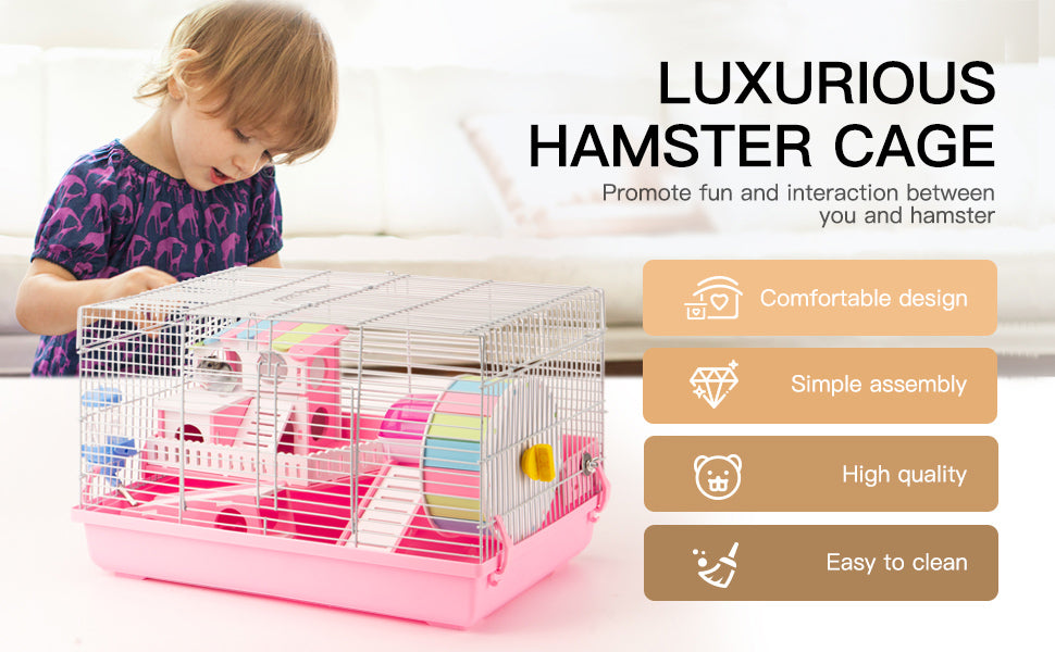 Robotime Hamster Cage White Style