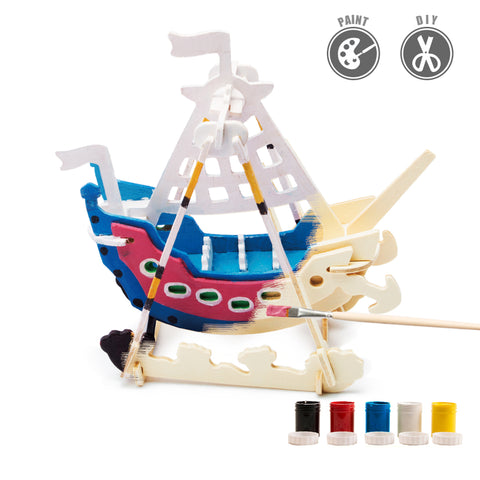 3D Painting Puzzle HC258 Swing Boat