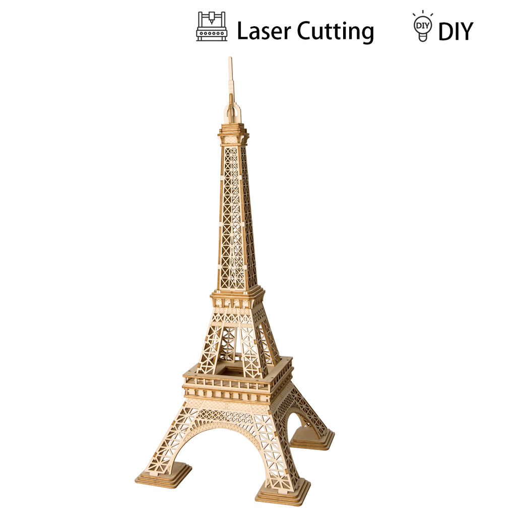 Modern 3D Wooden Puzzle-Non Animals TG501 Eiffel Tower