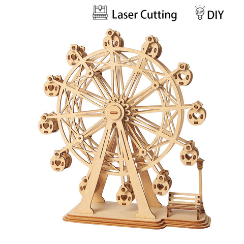 Modern 3D Wooden Puzzle-Non Animals TG401 Ferris Wheel