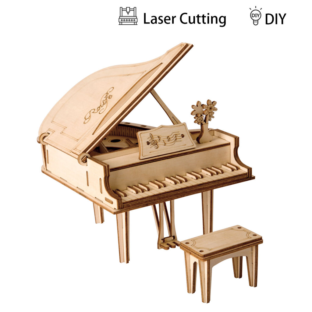 Grand Piano Modern 3D Wooden Puzzle