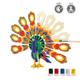3D painting puzzle HC204 Peacock