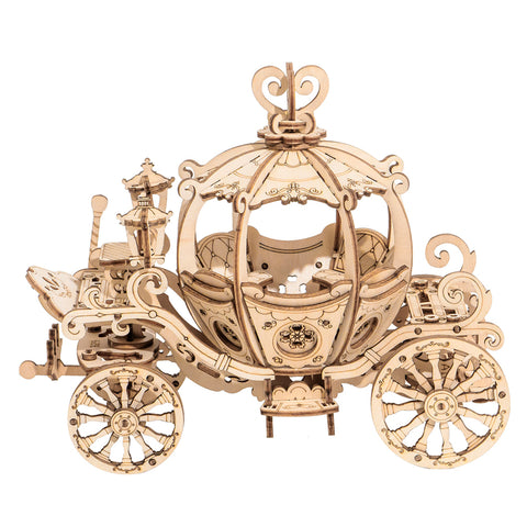 Modern 3D Wooden Puzzle-Non Animals TG302 Pumpkin Carriage