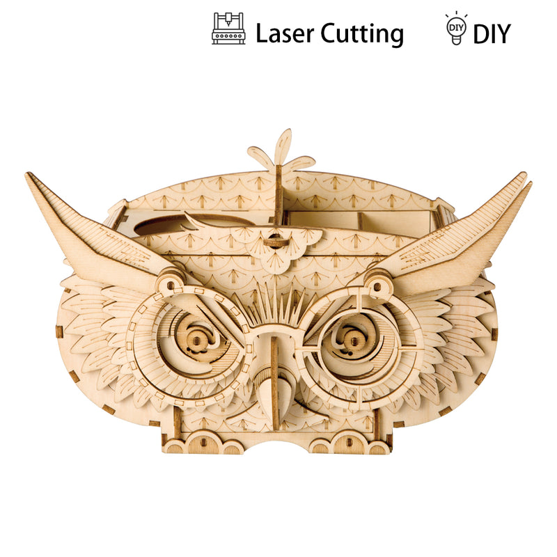 Modern 3D Wooden Puzzle-Non Animals TG405 Owl Box