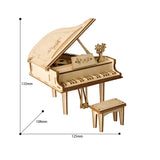 Modern 3D Wooden Puzzle-Non Animals TG402 Grand Piano