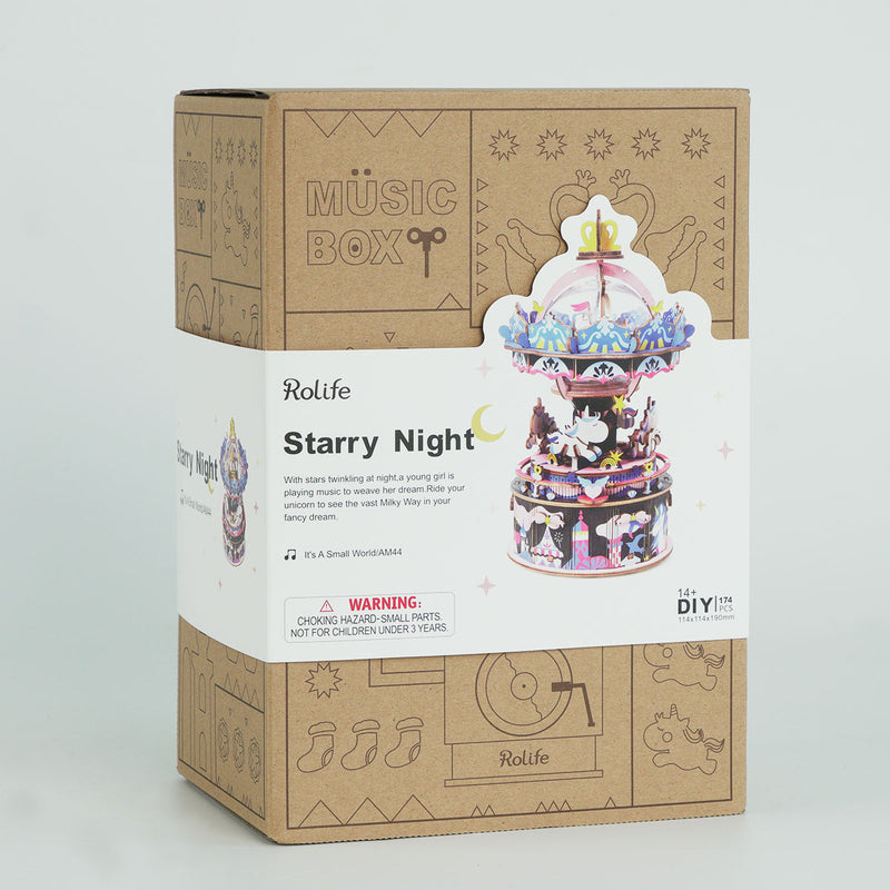 Starry Night AM44 Merry-go-round DIY Music Box