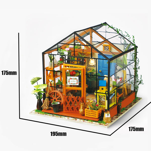 Doll Houses Diy Dollhouse Wooden Doll House Miniaturas With Furniture Toy Handmade Assembled Modle House Alice Sweet Dreams Dg108 #e