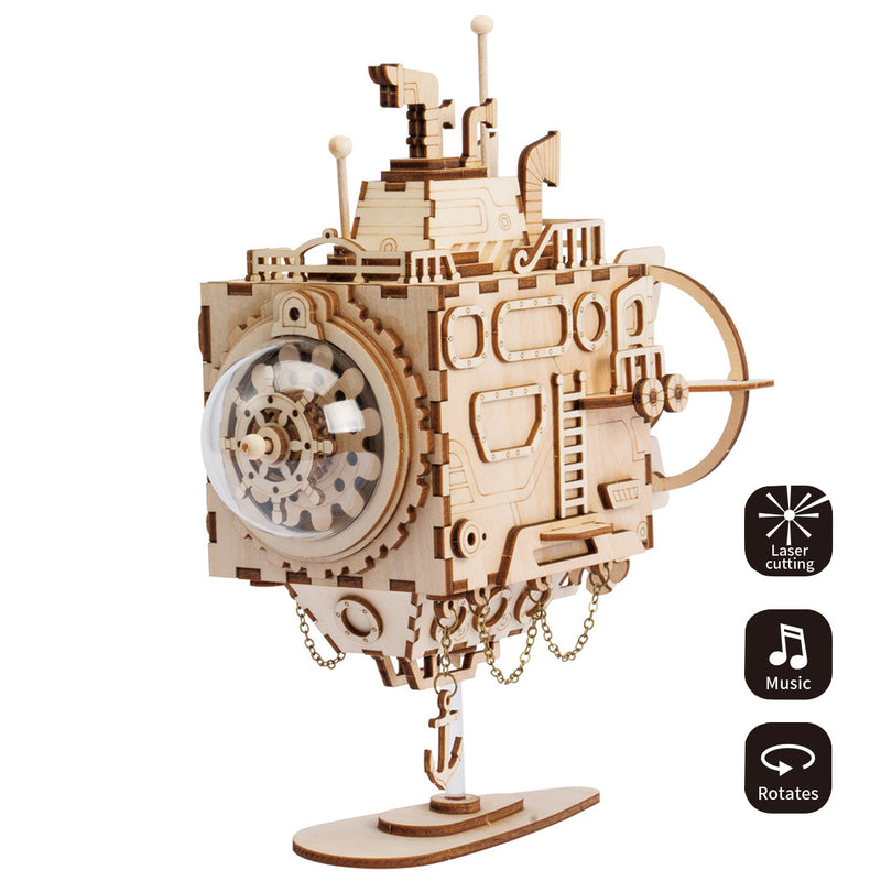Submarine AM680 - Robotime DIY Steampunk Music Box