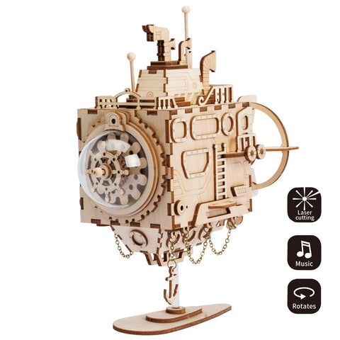 Steampunk Music Box-AM680 Submarine