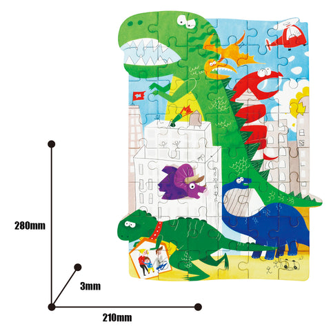 Jigsaw Puzzle 48 PCS - Battle of Dinosaurs - YX003