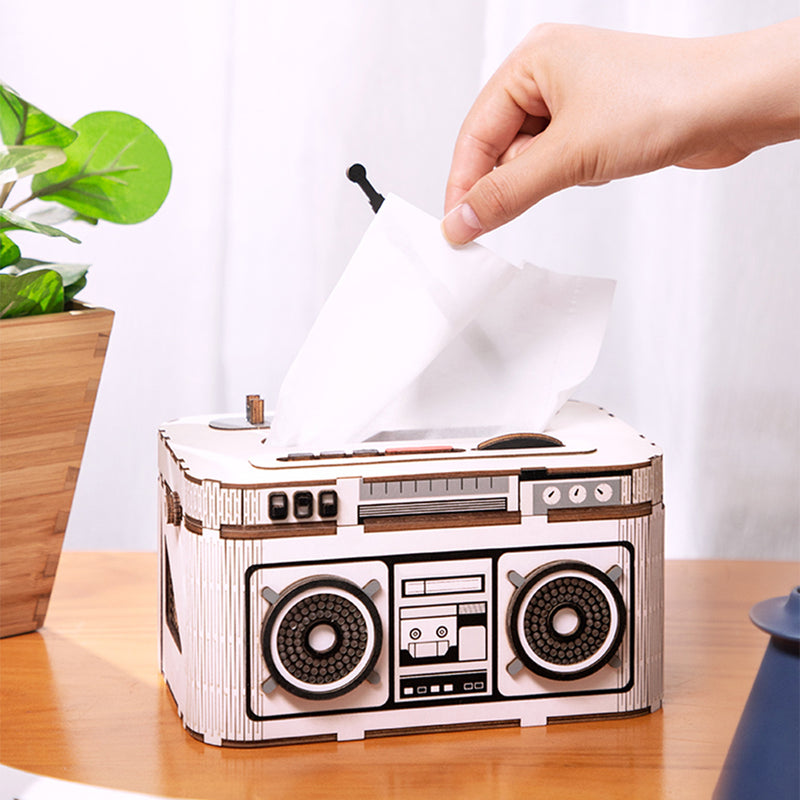 DIY DESK ORGANIZER Rock Radio TG15 Tissue Box